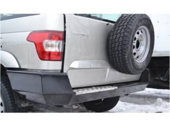 Бампер задний на УАЗ Патриот 2015 Партизан c алюминиевой накладкой