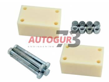 Комплект проставок под серьги рессор УАЗ 469, 452 Буханка, 31519 Хантер, 3163 Патриот для лифта на 50 мм (капролон) Autogur73