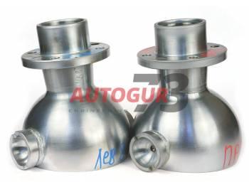 Опора шаровая усиленная с хром-алмазным покрытием, кастор +8 под вкладыш, УАЗ мост Спайсер (к-т 2 шт.) Ваксойл