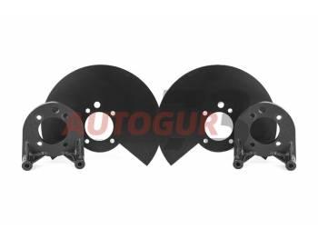 Комплект для установки заднего дискового тормоза ГАЗ 2217 Соболь (2 планшайбы + 2 щитка) Autogur73
