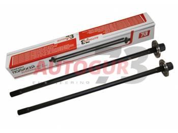 Комплект усиленных полуосей УАЗ на гибридный мост (875 мм +736 мм) (с фланцами) Val Racing