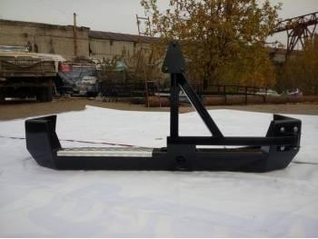 Бампер задний на УАЗ Патриот Партизан с калиткой под запаску