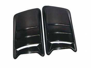 Накладки на капот Жабры УАЗ Хантер АБС пластик, черный.