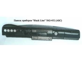 Панель приборов BLACK LINE  (АБС-пластик) УАЗ-452
