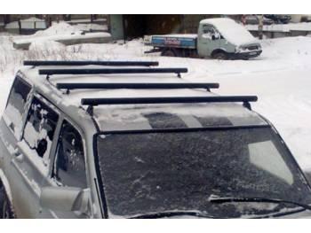 Поперечные рейлинги на УАЗ Патриот из нержавеющей трубы