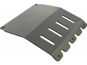 Защита радиатора Mitsubishi L200 2005+ под накладку РИФ на пер. бампер (алюм)