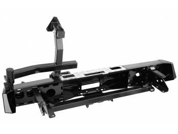 Бампер РИФ силовой задний Nissan Navara D40 05-14 с площ. под лебёдку, квад. под фаркоп, калиткой и фонарями