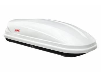 Бокс автомобильный на крышу РИФ Туризм 450 л белый глянец, правосторонний