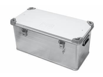 Ящик алюминиевый РИФ усиленный с замком 782х385х379 мм (ДхШхВ)