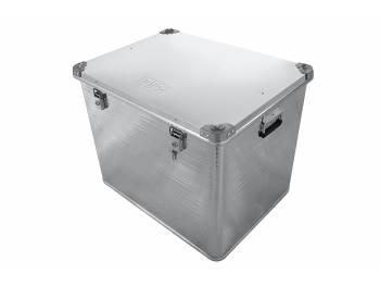Ящик алюминиевый РИФ усиленный с замком 782х585х622 мм (ДхШхВ)