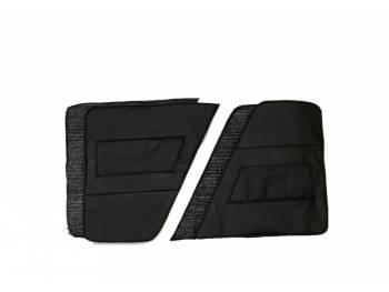 Обивка дверей УАЗ 469 (в/кожа, поролон, ватин) чёрная, 4 предмета