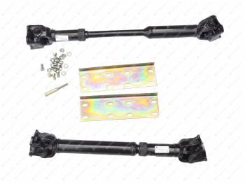 Установочный комплект КПП 3182 с мостами Спайсер (пластины+удлинители тяг+ валы карданные) (№064-02)