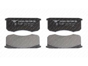 Колодка тормозная дисковая АО УАЗ (Патриот, СГР) (к-т 4 шт) (3163-00-3501088-00)