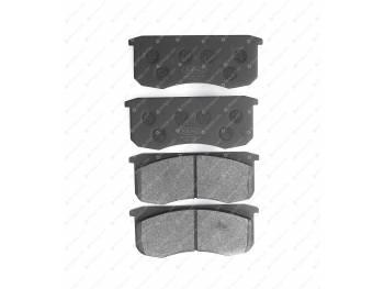 Колодка тормозная дисковая КиТ (к-т 4 шт.) (KNU-3501090-62)с противошумн. покрытием (3160-00-3501090-98)