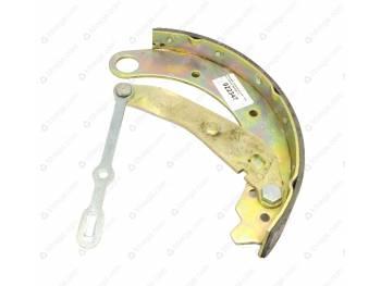 Колодка тормозная задняя длинная правая с накладкой Патриот/Пикап с РК DYMOS + (3163-00-3502086-10)