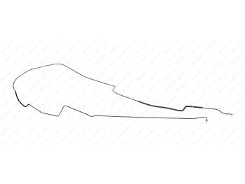 Трубка торм. (3850) ПОЛИМЕР УАЗ Пикап от соедин. муфты к гидромодулятору (рестайлинг 2017г.) (2363-00-3506083-31)