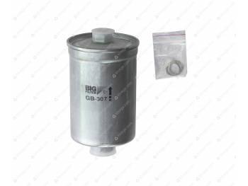 Фильтр топливный тонкой очистки ГАЗ инжектор под штуцер (штуцеры разные) (BIG FILTЕR) (GB-307)