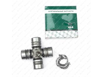 Крестовина карданного вала УАЗ/ГаZ (d 30) с масленкой и стопорными кольцами ОАОУАЗ (0469-00-2201025-01)