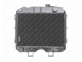Радиатор водяного охлаждения 3-х рядный (ШААЗ) МЕДНЫЙ (3741-00-1301010-04)