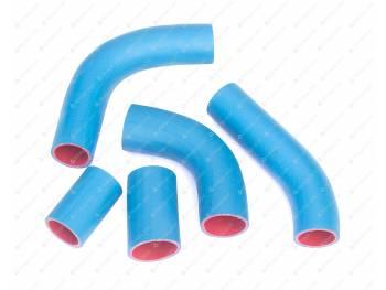 Патрубки радиатора УАЗ 100 л.с (5шт) (синие)
