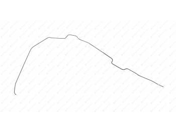 Трубка торм. (2120) ПОЛИМЕР от соединительной муфты к заднему лев. шлангу (рестайлинг 2017г.) (3163-00-3506088-71)