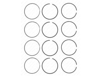 Кольца поршневые 92,0 узкие ( KNG-1000100-57 ) (406.1000100-10)