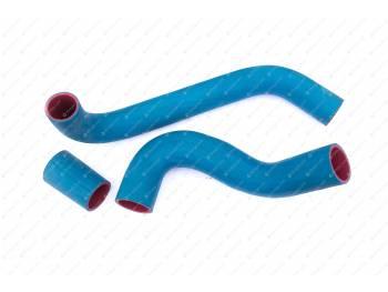 Патрубки радиатора УАЗ 452/469 дв. 409 (3шт) (синие)