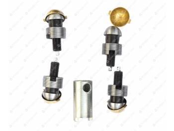 Ремкомплект шкворневого узла 3162, 3163 Спайсер (вкладыш латунный 2 уса) ЛАРИ