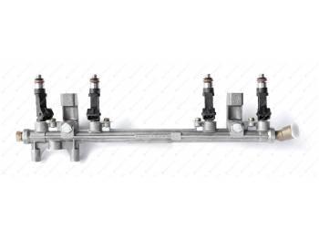 Топливопровод УМЗ-4213 ЕВРО-2,3 с форсунками и угловым штуцером (420.1104010-25)