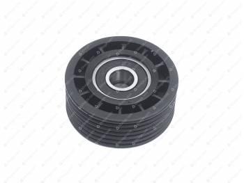 Ролик натяжной ЗМЗ-40904, 4091 (ЕВРО-3) поликл. с двухрядным подшипником MetalPart (МР-4091-1308080-08)