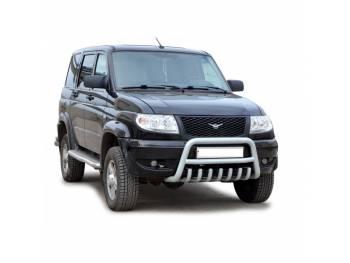 Защита переднего бампера УАЗ Патриот дуга (краш.)