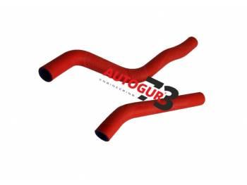 Патрубки радиатора отопителя ВАЗ 2123 Шевроле Нива армированные красные А-Sport (к-т 2 шт)
