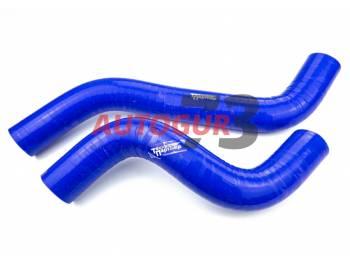 Патрубки радиатора ВАЗ 2123 Шевроле Нива силиконовые армированные синие (к-т 2 шт)
