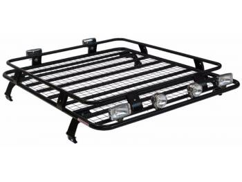 Багажник ВАЗ-2121 Нива корзина с сеткой на водостоки