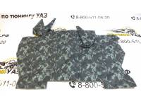 """Коврик под рычаги УАЗ 452 """"омон"""" (серый камуфляж) прострочка ромбом"""