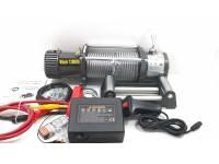 Лебедка электрическая 12V Electric Winch 12000lbs / 5443 кг (блок+механизм IP66) со стальным тросом и усилинным тормозом (WRM)