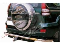 Защита заднего бампера (дуга) TOYOTA LAND CRUISER PRADO 120 (2003-2009) одинарная сплошная FJ120-B050
