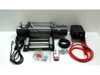 Лебедка электрическая 12V Electric Winch 12000lbs/5443 кг со стальным тросом