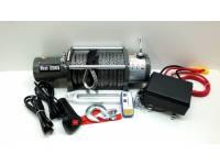 Лебедка электрическая 12V Electric Winch 12000lbs/5443 кг с кевларовым тросом 10мм