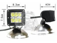 Фара светодиодная CH041 18W 6 диодов по 3W (габаритные размеры 75*82*80мм цветовая температура 6000K дальний свет)