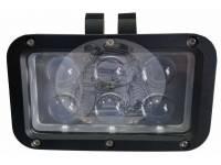 Фара светодиодная P017 60W 6 диодов по 10w (габаритные размеры 180*135*80мм цветовая температура 6000K 60° ближний свет, 30° дальний свет)
