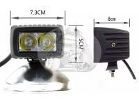 Фара светодиодная P018 8W 2 диода по 4w габаритные размеры 73*50*60мм)