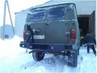 """Бампер силовой задний """"Аллигатор"""" на УАЗ 452"""
