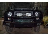 """Бампер силовой передний на УАЗ 469 """"Таран - 2"""" с кенгурином"""