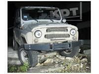 Передний силовой бампер без кенгурина Спорт - УАЗ Hunter KDT