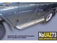 """Комплект подножек на УАЗ 469 """"Хантер"""" усиленные с алюминиевыми накладками"""
