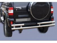 Защита заднего бампера на УАЗ