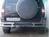 """Защита заднего бампера """"ТП"""" на УАЗ Патриот 02"""