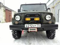 Бампер Вездеход передний усиленный на УАЗ Hunter, сталь 3 мм