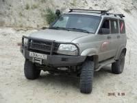 """Бампер """"Т-34-2"""" передний усиленный на УАЗ Патриот, сталь 3, 4, 6 мм"""